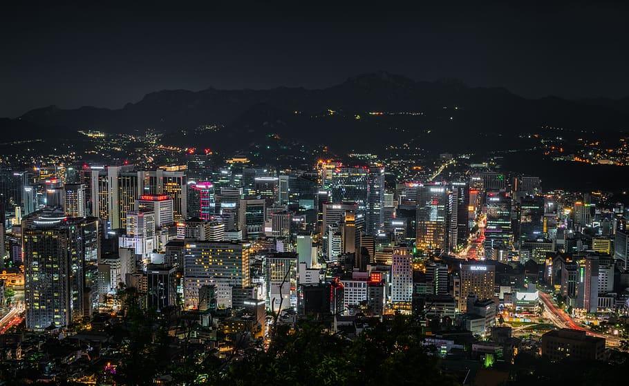 강남빌딩매매 beautiful night view in Gangnam